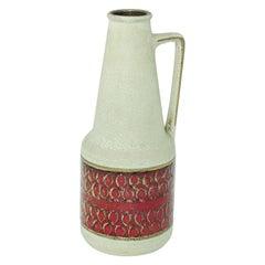 Modernist West German Fat Lava Bauhaus Vase, 1960