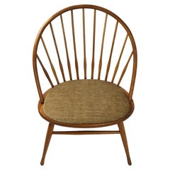 Modernist Windsor Style Chair Teak, Made in Sweden Attributed to Yngve Ekstrom