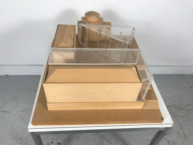 Modernist Wood and Acrylic Architectural Model Columbia University, circa 1970s In Good Condition For Sale In Buffalo, NY