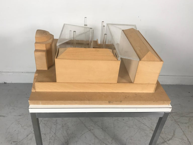 Modernist Wood and Acrylic Architectural Model Columbia University, circa 1970s For Sale 1