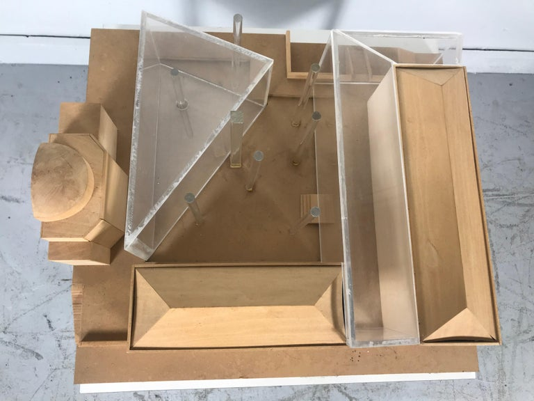 Modernist Wood and Acrylic Architectural Model Columbia University, circa 1970s For Sale 2