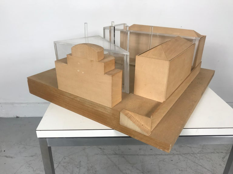 Modernist Wood and Acrylic Architectural Model Columbia University, circa 1970s For Sale 3