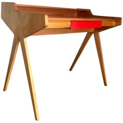 Modernist Writing Table or desk by Helmut Magg for WK Möbel Germany, 1955