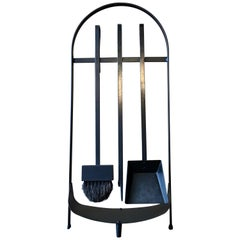 Modernist Wrought Iron Fireplace Tools