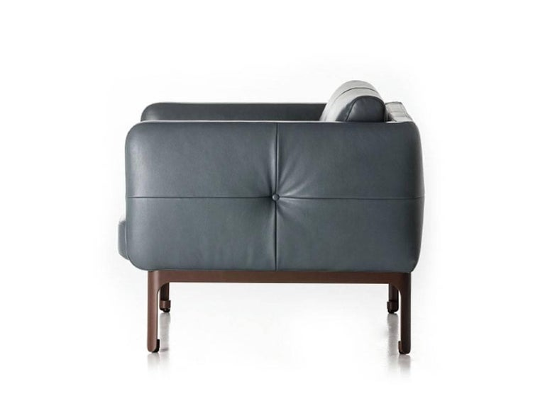 Italian Modernista Armchair by Doshi and Levien in Fabric or Leather for Moroso For Sale