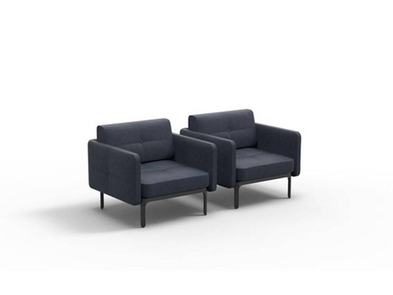 Modernista Armchair by Doshi and Levien in Fabric or Leather for Moroso In New Condition For Sale In Rhinebeck, NY