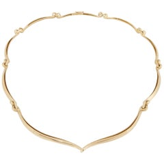 David Webb 18K Yellow Gold Necklace