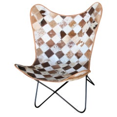 Modernistic Iconic Sheep Skin and Solid Iron Easy Chair for Sea Side Homes
