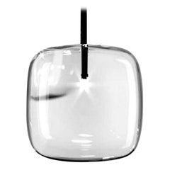 Moderno, Glass Pendant Lamp with Black Nickel Finish, Made in Italy