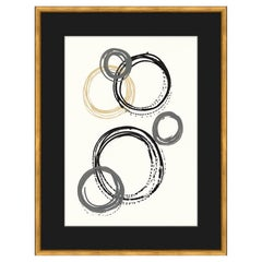 Moderno Series II Abstract Giclee Print with Blonde Wood Frame by CuratedKravet