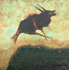 Arloi 2003 abstract original oil painting on board Cuixart