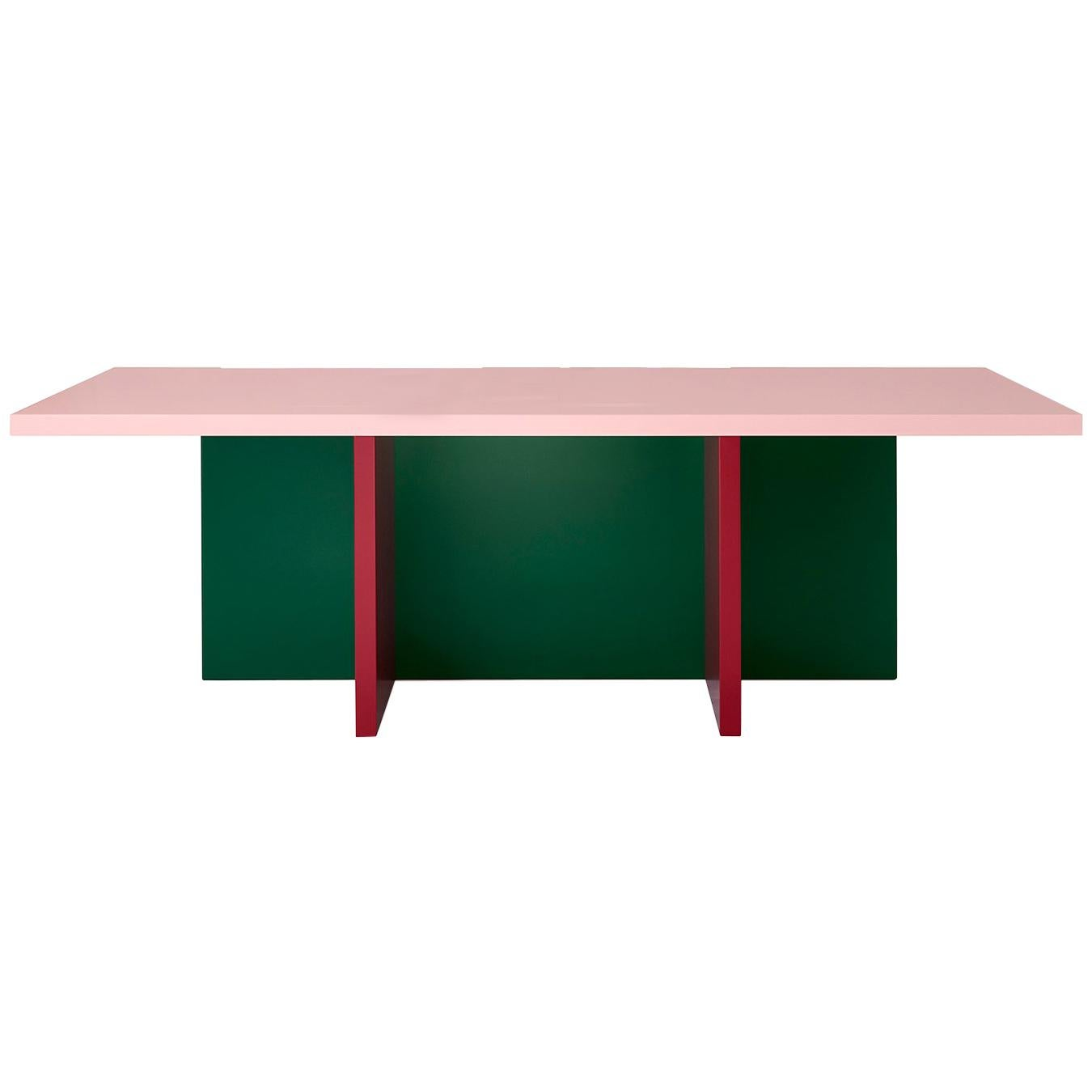 Color-Blocked Lacquered MDF Modesto Dining or Conference Table by Studio Bannach
