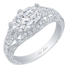 Neil Lane Couture Modified Marquise Brilliant-Cut Diamond, Platinum Ring