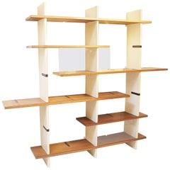 Modulable Bookshelf Model 'Domino' by Eugenio Gerli for Tecno Milano, Italy 1966