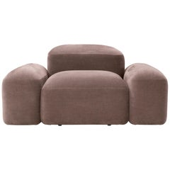 Modular and Customizable Armchair 'Lapis' E010 'Many Fabrics Available'