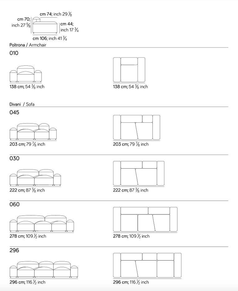 Modular and Customizable Sofa 'Lapis' E019 For Sale 3
