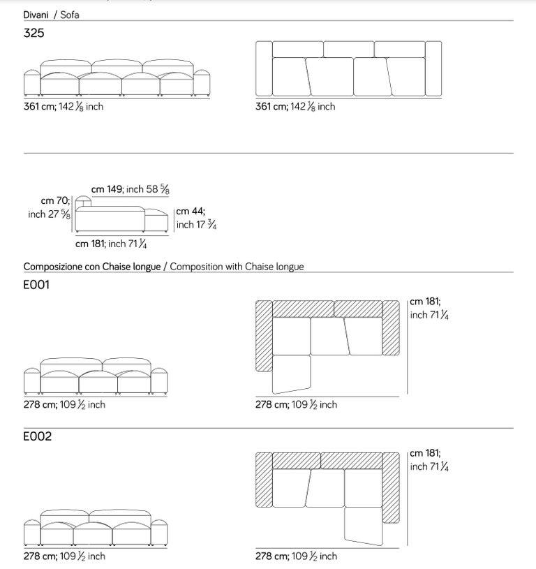 Modular and Customizable Sofa 'Lapis' E019 For Sale 4