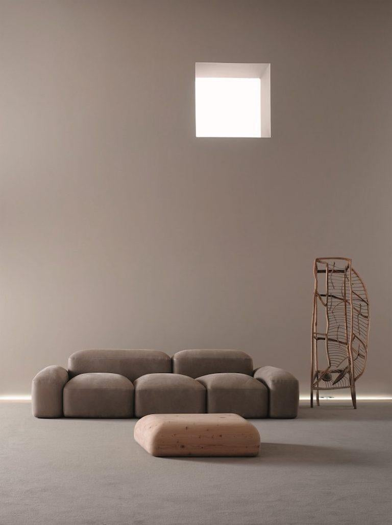 Organic Modern Modular and Customizable Sofa 'Lapis' E019 For Sale