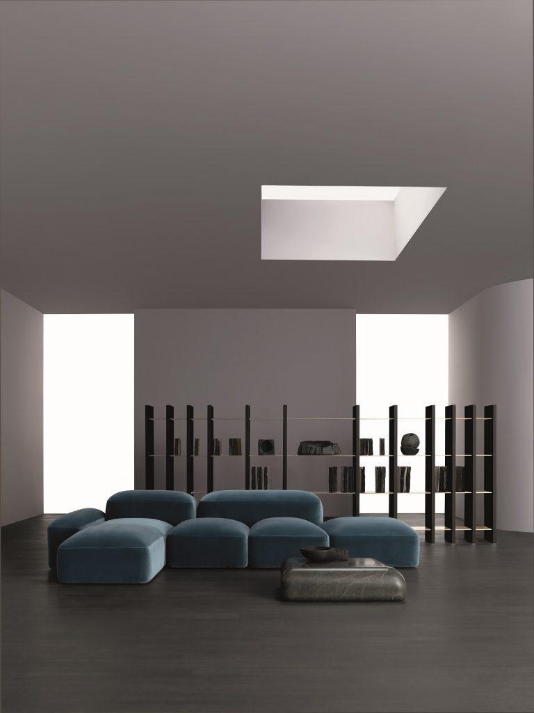 Italian Modular and Customizable Sofa 'Lapis' E019 For Sale