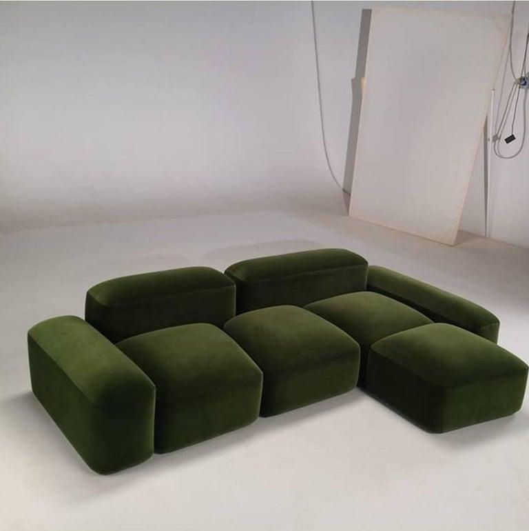 Contemporary Modular and Customizable Sofa 'Lapis' E019 For Sale