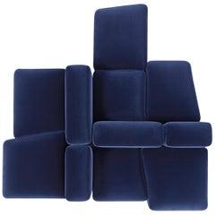 Modular and Customizable Sofa 'Lapis' E027 'Many Layouts and Fabrics Available'
