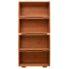 Modular Bookshelves from Mahogany Solid Wood