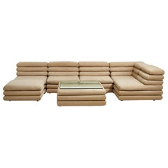 Modular Channel Stacked Sofa, 1970's