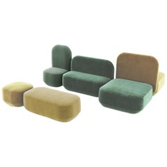 Modular Couch Rubik with Soft Velvet Combo 1