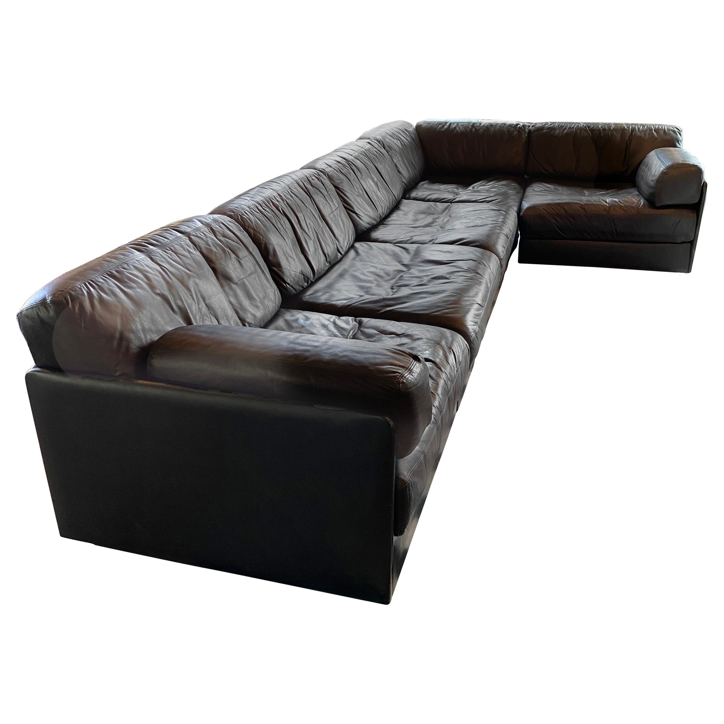 Modular De Sede Sectional Sofa DS-76, 1970s