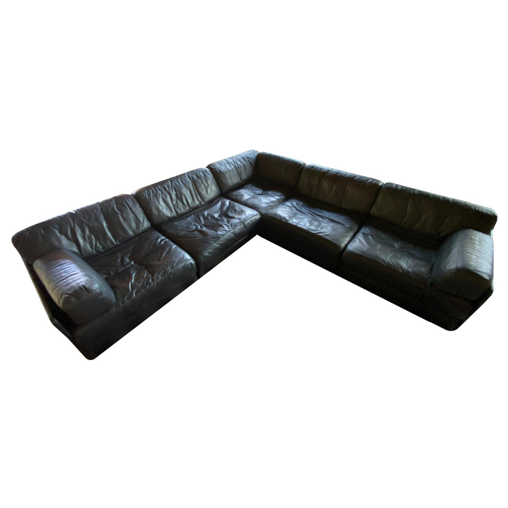Modular De Sede Sectional Sofa DS-76, 1970s