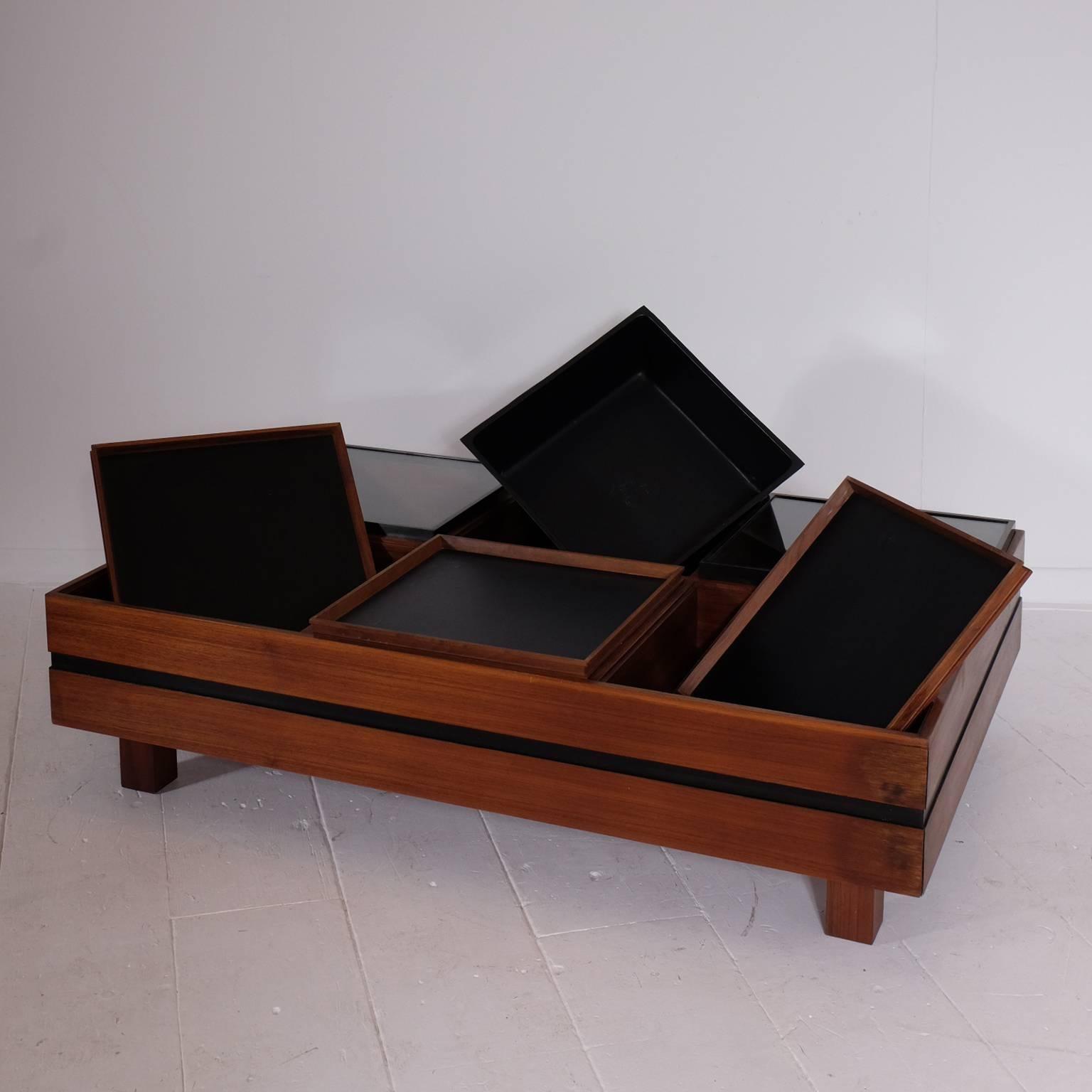 Modular Italian Coffee Table, By Sormani For Sale 1