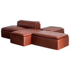 Modular Leather Sectional by Claudio Salocchi