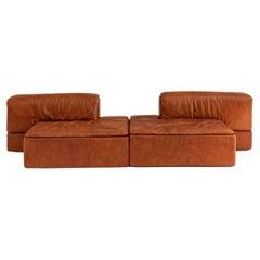 Modular Leather Sofas by Claudio Salocchi for Sormani