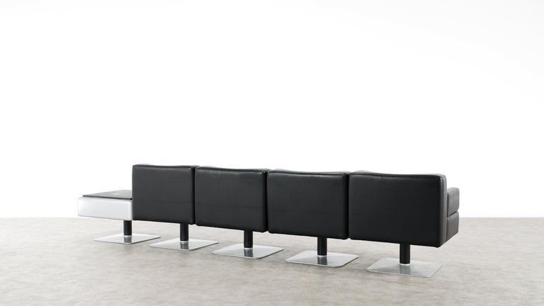 Modular Lounge Sofa or Chair or Table Set by Herbert Hirche 1974 Mauser, Germany For Sale 4