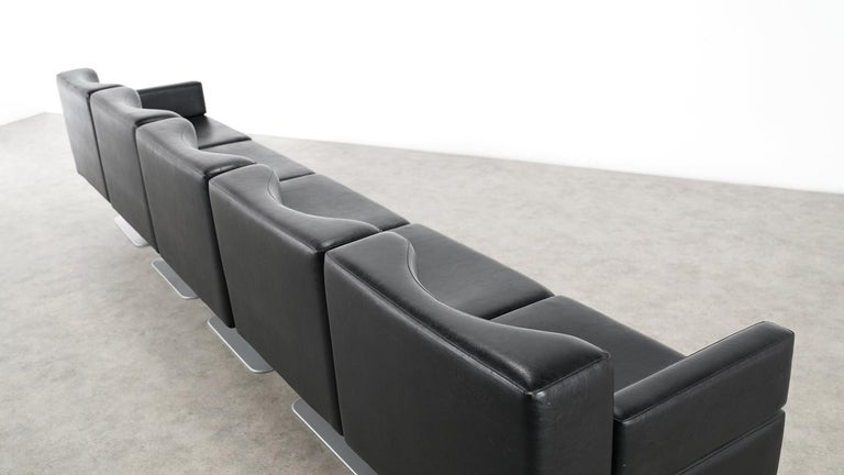 Modular Lounge Sofa or Chair or Table Set by Herbert Hirche 1974 Mauser, Germany For Sale 5