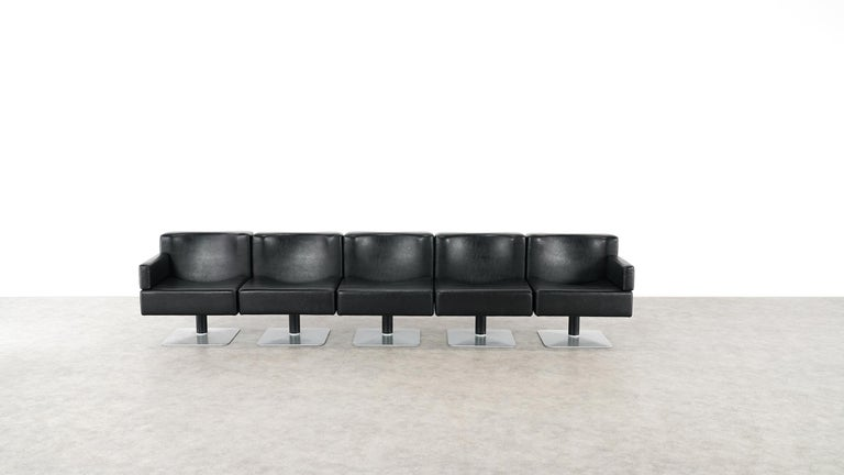Modular Lounge Sofa or Chair or Table Set by Herbert Hirche 1974 Mauser, Germany For Sale 7