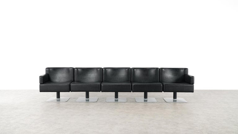 Modular Lounge Sofa or Chair or Table Set by Herbert Hirche 1974 Mauser, Germany For Sale 11