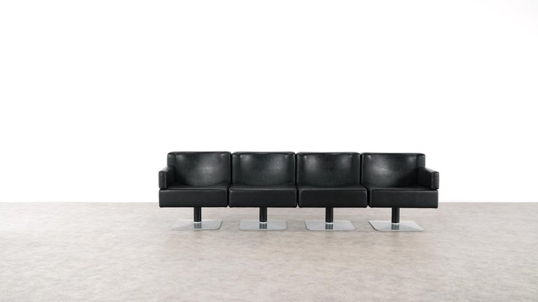 Modular Lounge Sofa or Chair or Table Set by Herbert Hirche 1974 Mauser, Germany For Sale 12