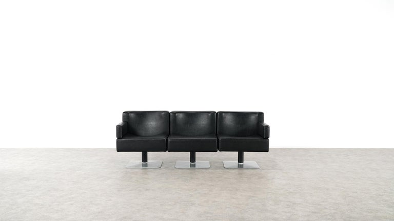 Modular Lounge Sofa or Chair or Table Set by Herbert Hirche 1974 Mauser, Germany For Sale 13