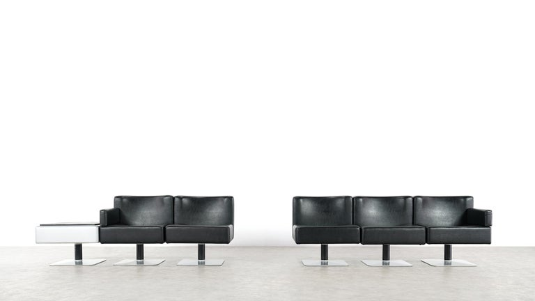 Late 20th Century Modular Lounge Sofa or Chair or Table Set by Herbert Hirche 1974 Mauser, Germany For Sale