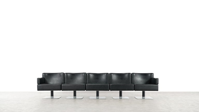 Modular Lounge Sofa or Chair or Table Set by Herbert Hirche 1974 Mauser, Germany For Sale 3