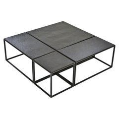 """Modular """"Mondrian"""" Brass and Bronze Low Table, by P. Tendercool"""