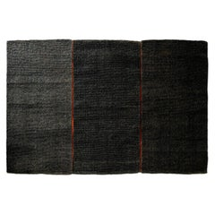 Modular Outdoor Indoor Natural Black Coconut Rug by Deanna Comellini 195x285 cm