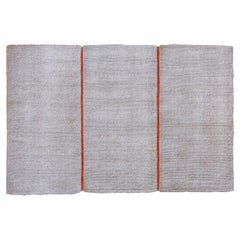 Modular Outdoor Indoor Natural White Coconut Rug by Deanna Comellini
