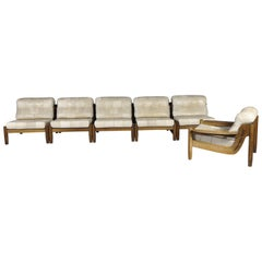 Modular Patchwork Leather Sofa,1970s