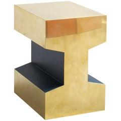 Modular Piece, RAILS 450, Lacquer Deep Blue, Brass 'Customizable'