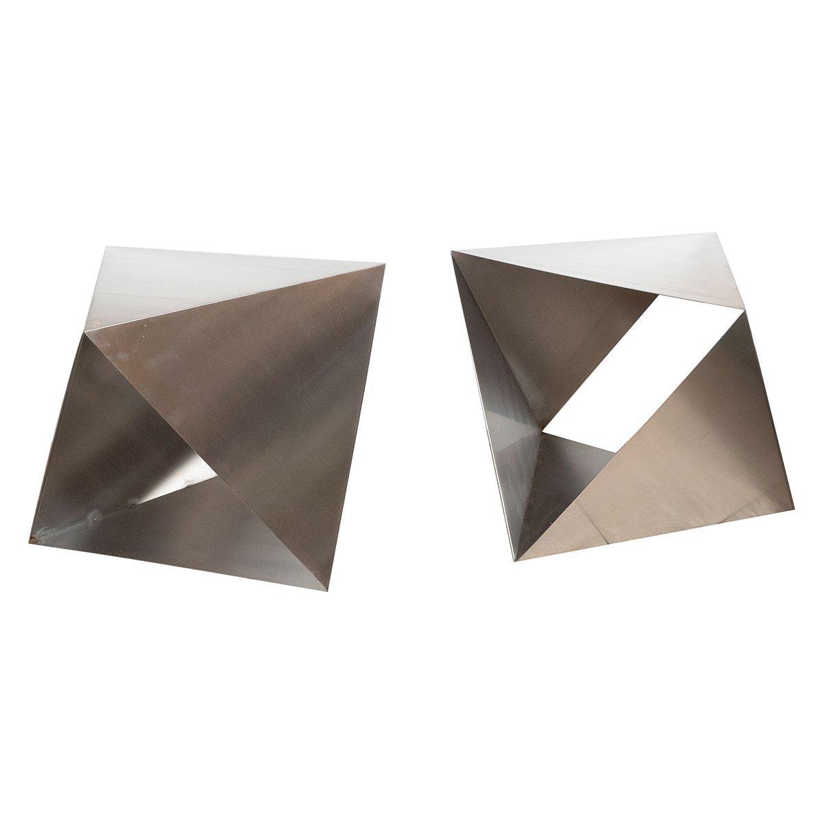 Modular Polyhedron Side Tables