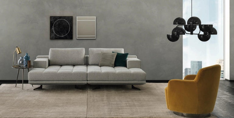 Modular Sectional Sofa with a Modern Design, Made in Italy, New