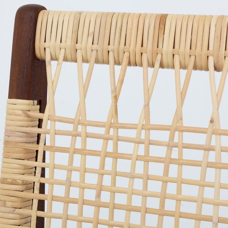 Scandinavian Modern Modular Set in teak and new cane by Hans Olsen For Sale