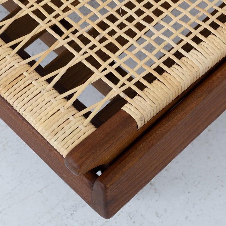 Danish Modular Set in teak and new cane by Hans Olsen For Sale